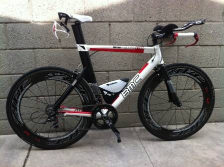 2011 BMC TT02 - SRAM RED AND ZIPP COMPONENTS - ZIPP 808 FIRECREST - $4100 (DOWNEY)