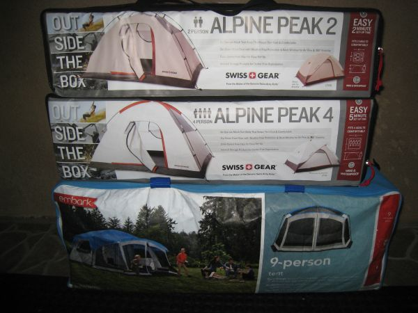 Brand New Tents...2,4 or 9 Person Tents. Canopys, Air beds And More. - $50 (Delivery $10)