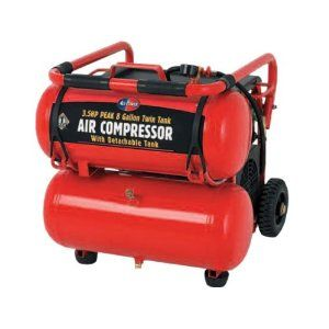 3.5 Horsepower 8 Gallon 115 PSI Mobile Twin Tank Air Compressor  - $200 (Huntington Beach)