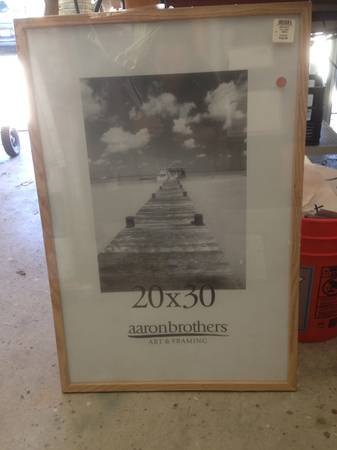 20 x 30 Picture Poster Print FRAME Brand New Retail $23 Natural Wood - $15 (Huntington Beach)