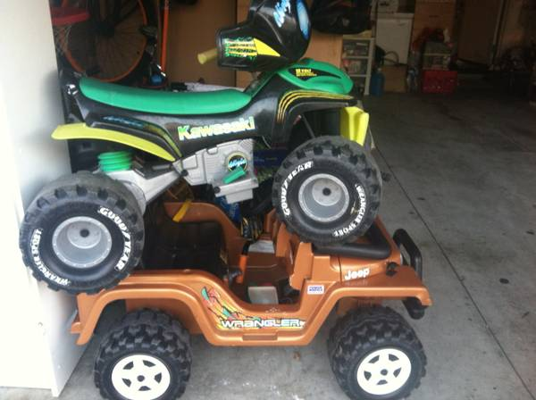 Power Wheels Wrangler Jeep or Kawasaki Quad - $30 (Huntington Beach)