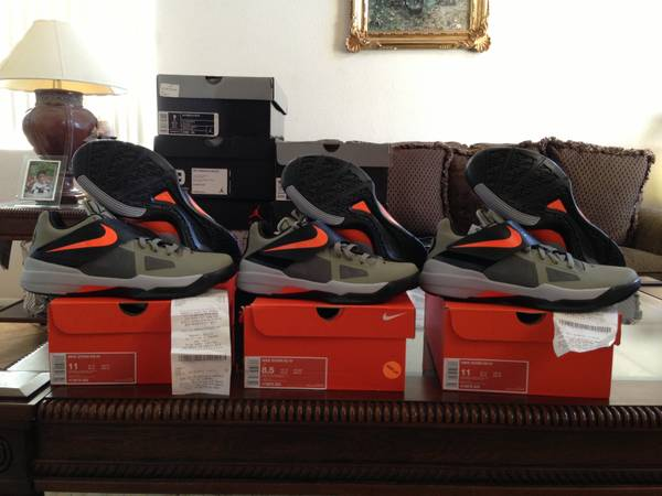 Nike Kd 4 Rouge Green Undefeated Sz 11 - $120 (FullertonOrange CountyLANewport Beach)
