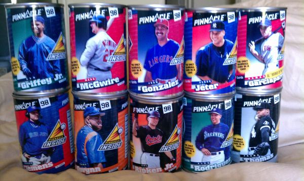 LOOK 10 BASEBALL CARDS IN A CAN  - $20 (SO. CAL)