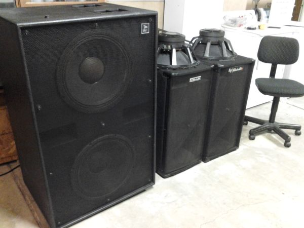 EV TL880D dual 18-inch subwoofer- Two EVX-180A woofers IN Cabinet - $700 (buena park)