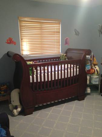 Pottery Barn Sleigh Crib For Sale