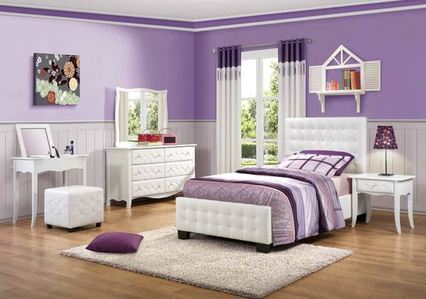 new sales daily Sparkle Upholstered Bedroom Set (all areas)