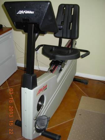 LifeFitness Recumbent LifeCycle 5500R Exercise Bike - $895 (Desert Hot Springs)