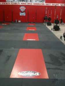 rubber flooring - $175