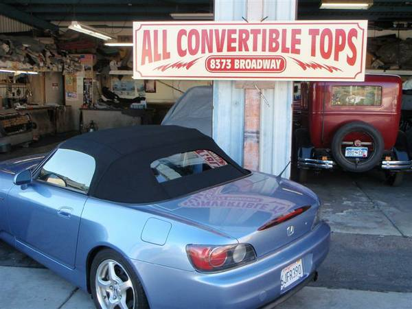 New Honda S2000 Canvas Convertible Top - INSTALLED - $1290 (Lemon Grove)