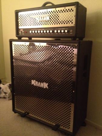 Krank Rev1 Half Stack GUITAR AMP W Chrome Grill (Banning, - $1200