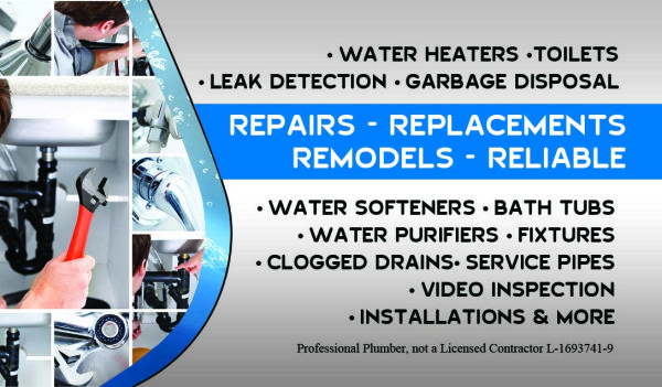 gtgtgtPROFESSIONAL PLUMBERltltltWE FIX ALL PLUMBING ISSUES FOR LESS (LOW FLAT RATES ltgt SAME DAY SERVICE)
