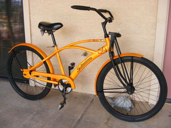 cool retro Schwinn Ruler mans fat tire beach cruiser, springer fork (Wickenburg)