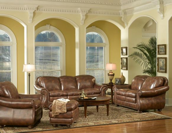 Brand New Leather Italia 4 Piece Living Room Set  - $2500 (Mesa-Select Appliance)