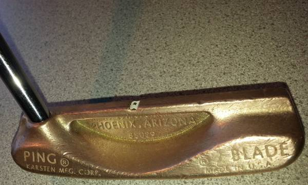 VINTAGE PING BLADE KARSTEN BRASS HEAD PUTTER 85029  - $150 (BELL  51 FREEWAY)