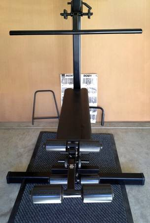 SOLOFLEX MUSCLE MACHINE WITH LEG EXTENSION - $475