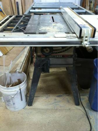 3 hp craftsman table saw Biesemeyer fence - $480 (New River)