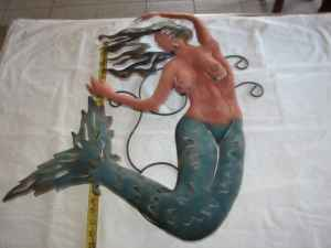 Mermaid -- metal art - $150 (Surprise)