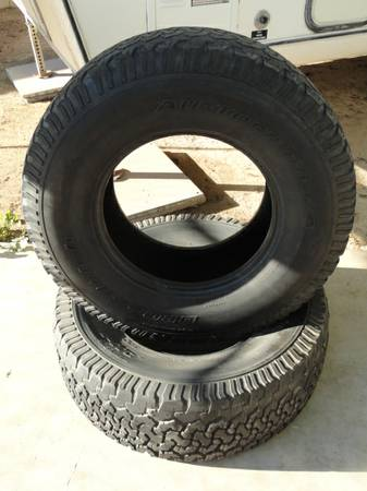 2 used BF Goodrich All Terrain tires, LT 315 70 17 (2 for$50) - $50 (nw phxglendale)