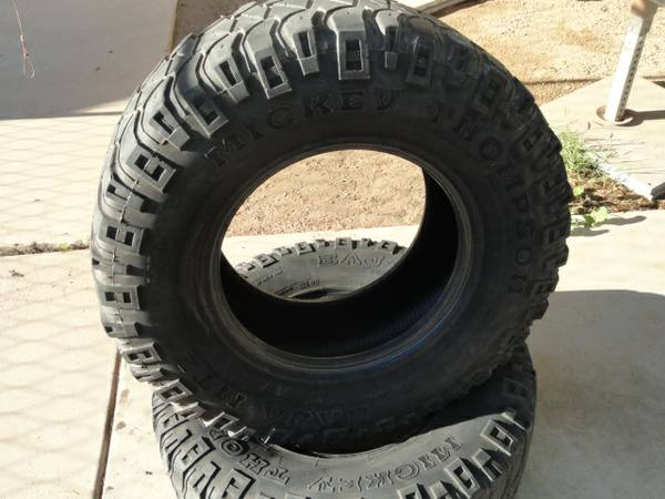 Used pair of LT31570R17 Mickey Thompson Baja MTZ - $60 (nw phx- glendale)