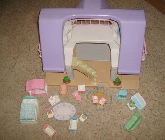 Little Tikes Dollhouse with Fisher Price furniture  12 dolls  people - $65 (NW Glendale )