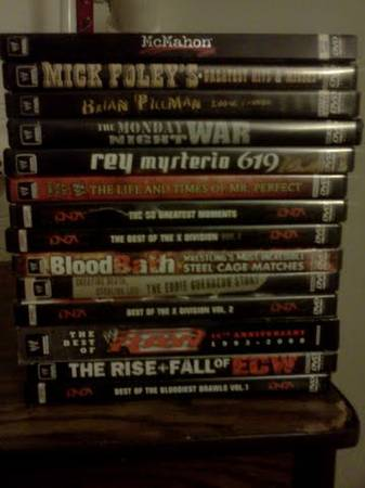 --LOT OF 14 WRESTLING DVDS-- WWE WCW WWF ECW TNA - $50 (Youngtown)