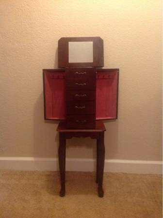 LIKE NEW Cherry wood Jewelry Armoire  - $60 (Osborn  Hayden )