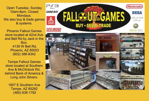Buying  Trading Video Games, Systems  Accessories (Fallout Games in Phoenix  Tempe)