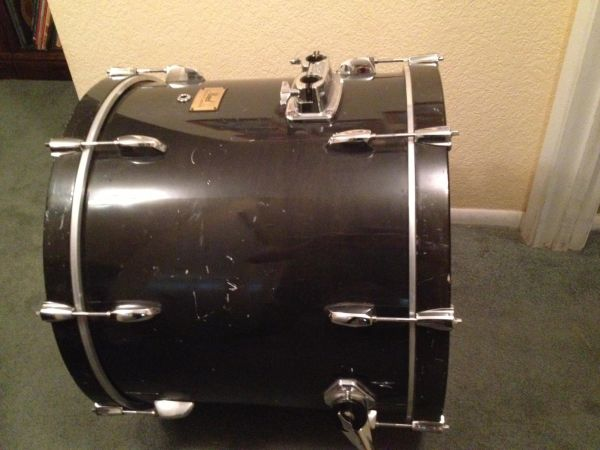 pearl session custom bass drum for sale. Black Bedroom Furniture Sets. Home Design Ideas