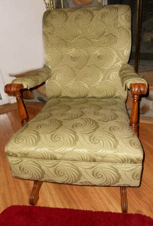 ANTIQUE Upholstered ROCKING CHAIR - Beautiful  - $100 (Prescott)