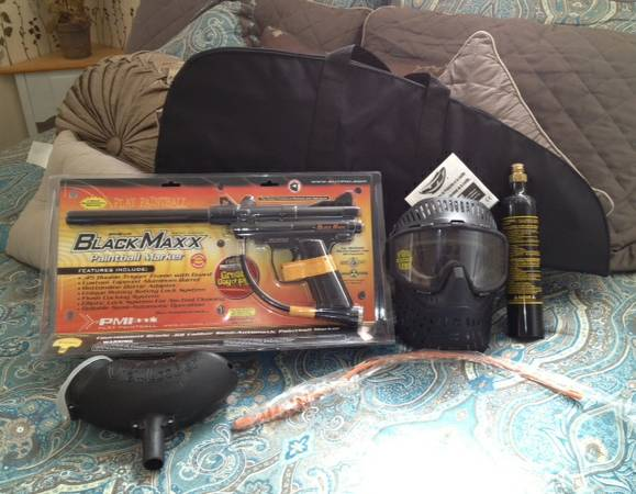 PAINTBALL PMI Black Maxx Paintball Marker - $40 (lindon)