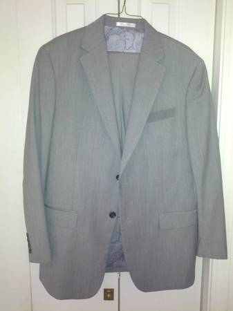 New Mens Suit 40R Gray by CHAPS - $50 (Brick Oven, Provo, UT)