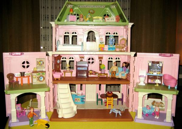 Fisher-Price Loving Family Grand Victorian Dollhouse  43 pc Extras  - $40 (RenoSTEAD)