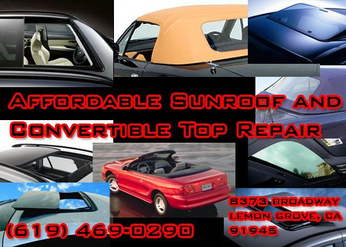 We Fix BMW X-3 Panoramic Sunroofs (Lemon Grove)
