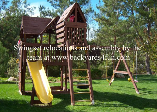 SWINGSET ASSEMBLY AND PLAYSET RELOCATION SERVICE (San Diego)
