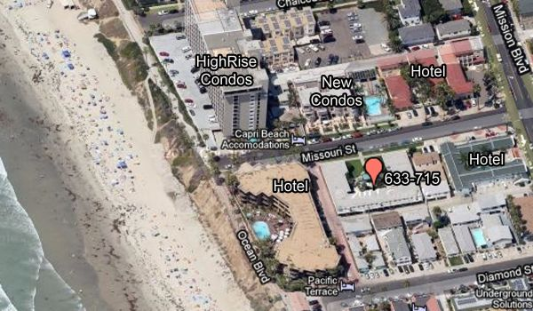 $1095  2br - 1000ftsup2 - 60 Yards to the Beach good ocean view new furniture-kitchen-bathrooms (Pacific Beach-500 yards to Garnet)