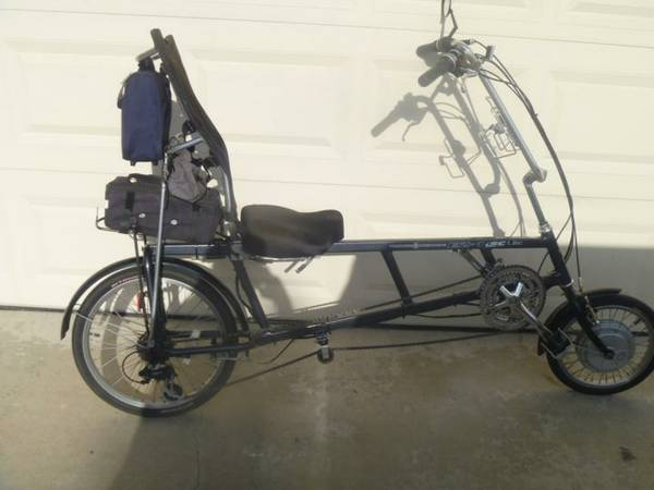 Recumbent Bike - EZ-1 with Electric Motor - $550 (Rancho Penasquitos)