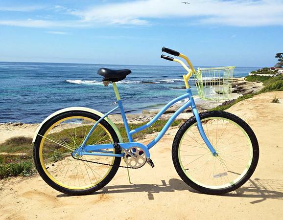 Custom Beach Cruiser - bright colors, adorable - $125 (La Jolla)
