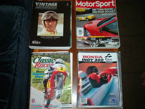 Vintage Motorsport  Motorsport Mags - $40 (Point Loma)