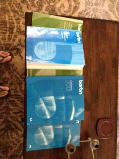 20122013  BARBRI CALIFORNIA FULL BAR REVIEW SET (9 BOOKS) SET - $200 (La Jolla)