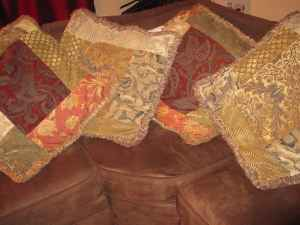 Handmade Large Tuscan Style Throw Pillows - $25 (Carlsbad (La Costa))