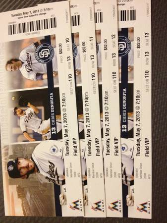 Padres Tickets Section 110 - $50 (San Diego)