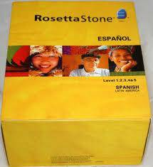 rosetta stone spanish 1-5 in the box with headphones  - $200 (oceanside)