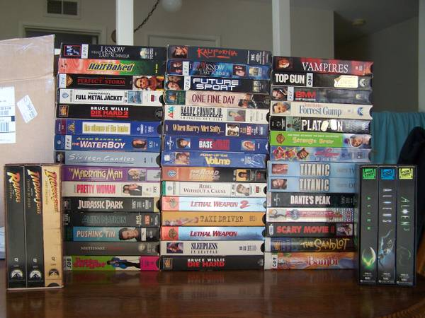 Huge lot VHS tapes -- You choose 10 or all, Something for Everyone  - $1 (San Diego)