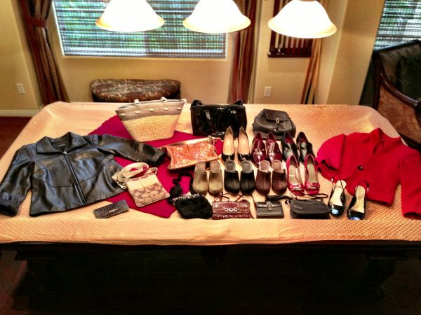 Real Designer Ladies Shoes  Purses - Burberry, Brighton, Coach (SD) (S. Carlsbad)
