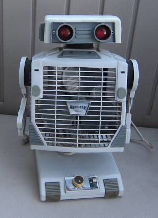 Fun Vintage Robeson Robot Oscillating Fan with Lighted Eyes - $45 (Point Loma)