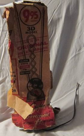 Iconic 1950s Snyder 3D Directronic Portable TV Antenna - $20 (Point Loma)