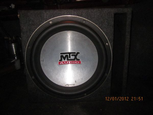 12 MTX 8500 w ported box - $150 (La Jolla-Spring Valley-Tj)