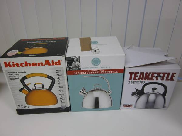 Teakettles from KitchenAid, Martha Stewart, and Tools of the Trade - $10 (Mission Valley)