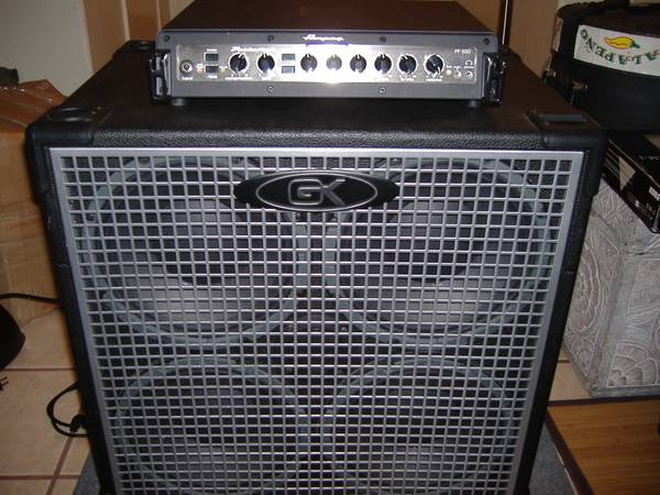 AMPEG HEAD PF 500  CABINET GK NEO 410 LIKE NEW - $700 (Down town)