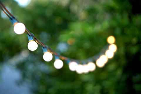 OUTDOOR WEDDING LIGHTS -  Wedding  Event Lighting Rental (La Jolla)